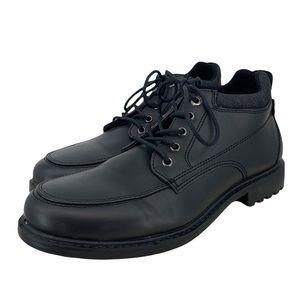 Levi's Mens Comfort Sole Black Slick Work Dress Ankle Boots Size 9